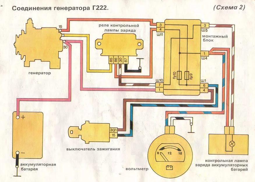 Генератор не дает зарядку на ВАЗ 2107